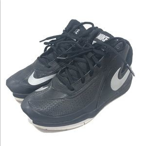 Nike Team Hustle Black Silver Basketball Shoes 5Y